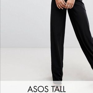 ASOS Pants - ASOS TALL black lace jumpsuit with wide leg